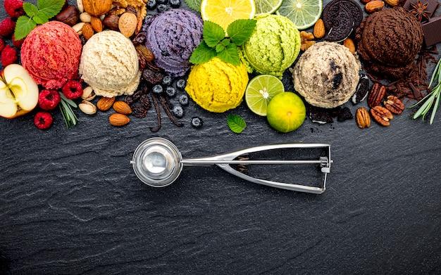 Vario di messa a punto della palla di sapore del gelato