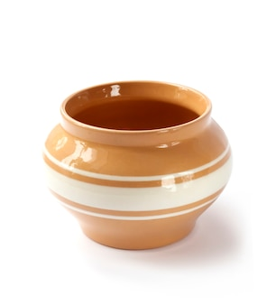 Vaso in ceramica smaltata isolato
