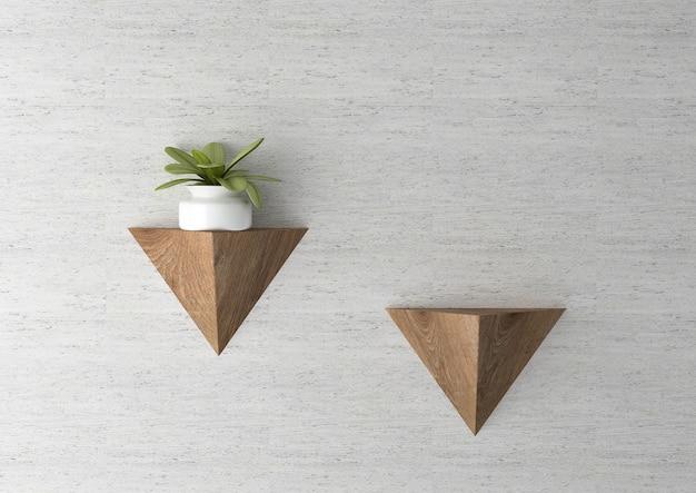 Vaso per piante sul muro