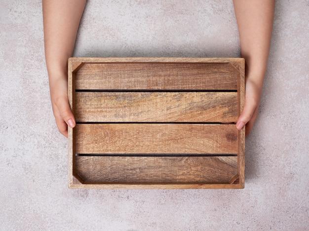Vassoio di legno vuoto