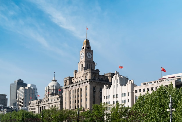 Vecchi edifici bund a shanghai