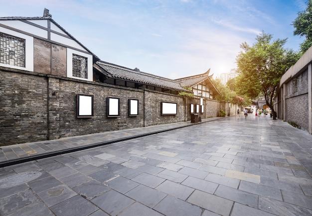 Vecchi edifici in kuan alley e zhai alley, chengdu, sichuan