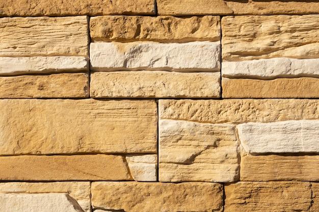 Vecchi mattoni antichi strutturati nel muro di fortres