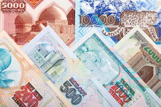 Vecchi soldi dal kazakistan uno sfondo di affari