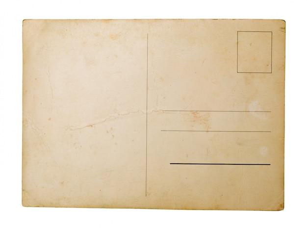 Vecchia carta su sfondo bianco.