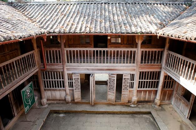 Vecchia costruzione a sa phin town nella provincia di ha giang, vietnam