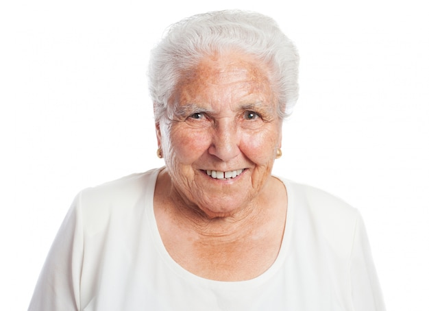 Vecchia donna sorridente