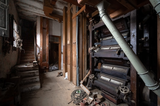 Vecchia fabbrica di farina abbandonata