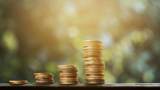 Vecchia finanza del grafico di soldi e concetto di affari