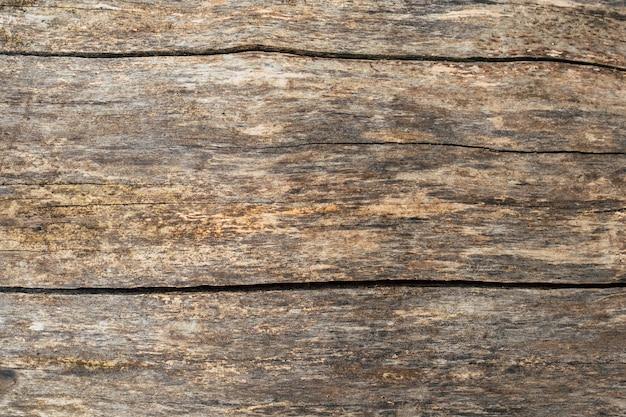 Vecchia fine marrone grigia di legno incrinata della parete del modello di struttura su