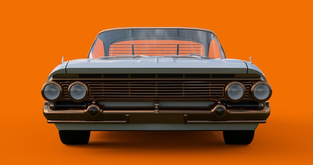 Vecchia macchina americana in ottime condizioni. rendering 3d