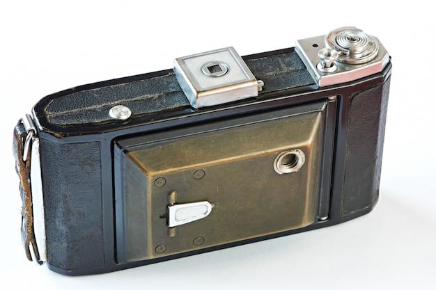 Vecchia modalità di chiusura fotocamera retrò isolata