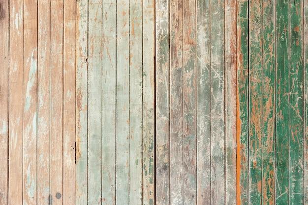 Vecchia parete di legno con grunge e graffiato per sfondo astratto. contesto vintage e retrò.