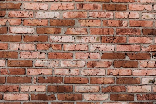 Vecchia priorità bassa del muro di mattoni del grunge
