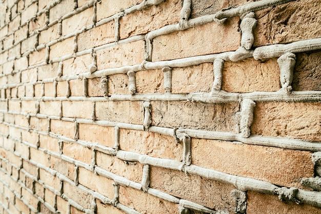 Vecchia priorità bassa del muro di mattoni dell'annata