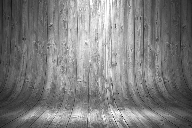 Vecchia priorità bassa di legno curva grungy