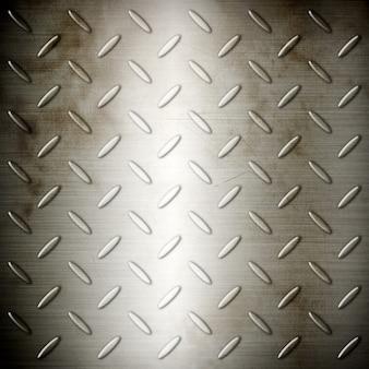 Vecchia struttura del fondo del piatto spazzolata diamante d'acciaio