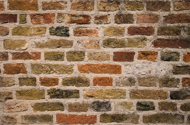 Vecchia struttura del muro di mattoni come fondo