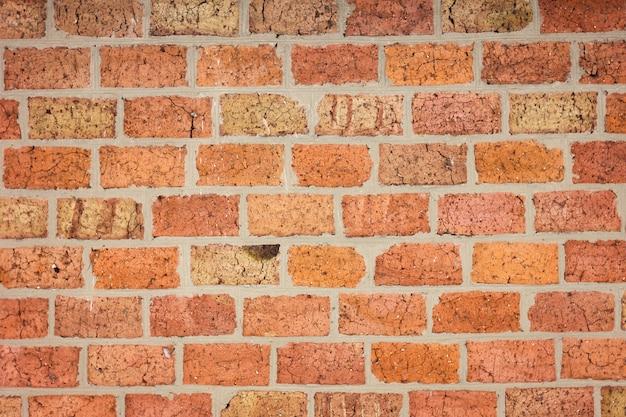 Vecchia struttura del muro di mattoni rossi