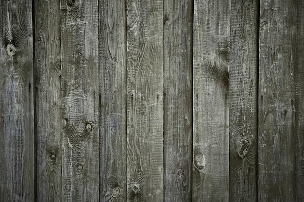 Vecchia struttura di legno grigio scuro della parete