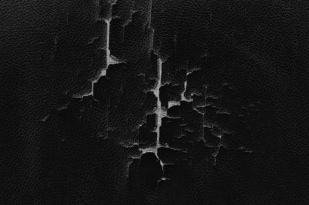Vecchia superficie di cuoio rotta