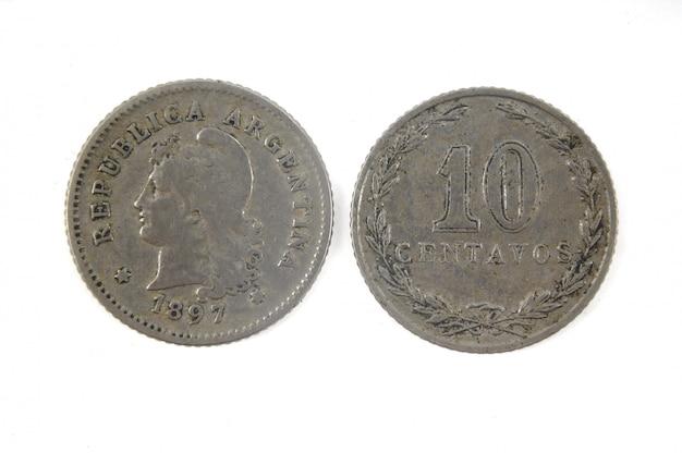 Vecchia valuta argentina 10 centavos, 1897