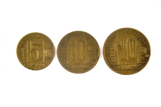 Vecchia valuta argentina 5,10 e 20 centavos