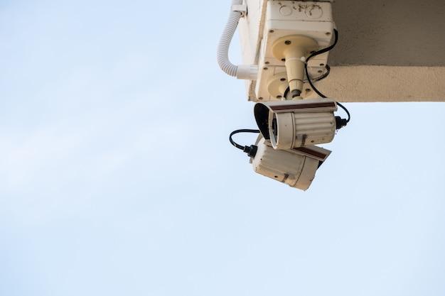 Vecchia videocamera di sicurezza.