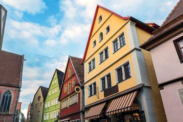 Vecchie case a rothenburg in germania