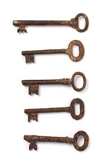 Vecchie chiavi decorate