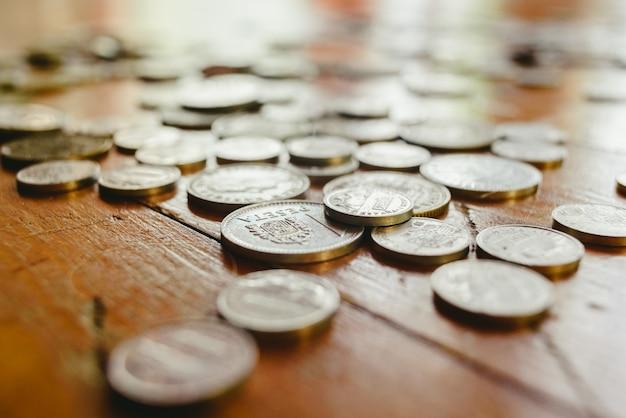 Vecchie monete peseta spagnola