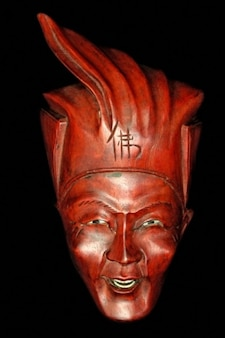Vecchio cinese buddista maschera