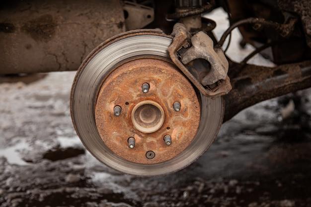 Vecchio disco freno in macchina, sicurezza