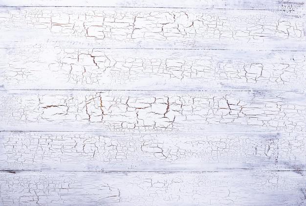 Vecchio fondo di legno bianco di crackle rustico