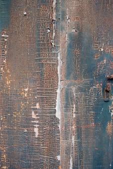Vecchio fondo di legno dipinto arrugginito del bordo