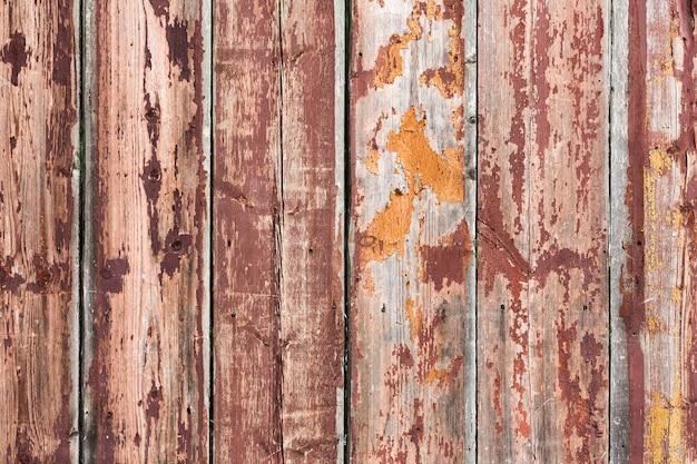 Vecchio fondo di legno marrone arrugginito d'annata