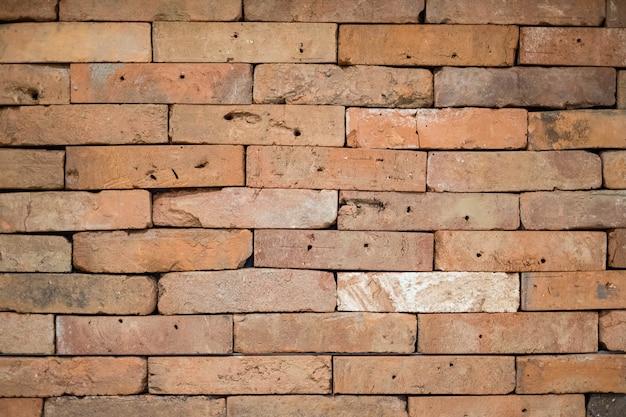 Vecchio fondo di struttura del muro di mattoni rosso