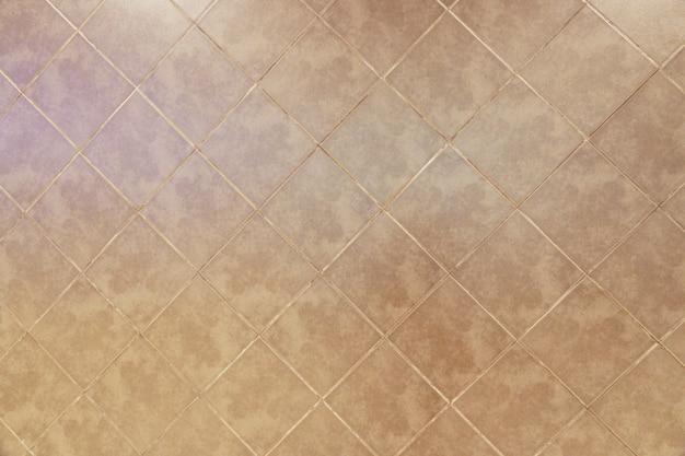 Vecchio fondo piastrellato marrone di struttura del pavimento