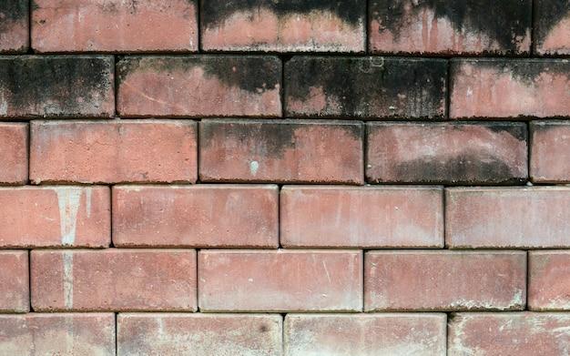 Vecchio fondo rosso di struttura del muro di mattoni