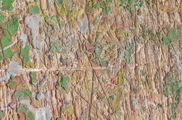 Vecchio fondo rustico dipinto incrinato di legno