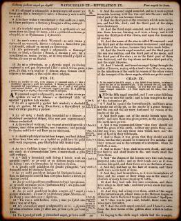 Vecchio gallese bibbia passaggio
