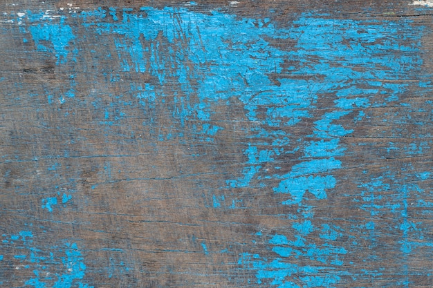 Vecchio legno dipinto in blu, trama o sfondo