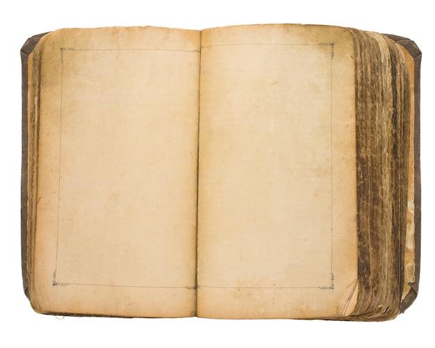 Vecchio libro isolato