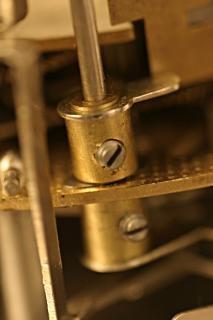 Vecchio marcro colpo di clock, metalli, meccanica