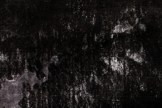 Vecchio materiale in tessuto nero con copia spazio