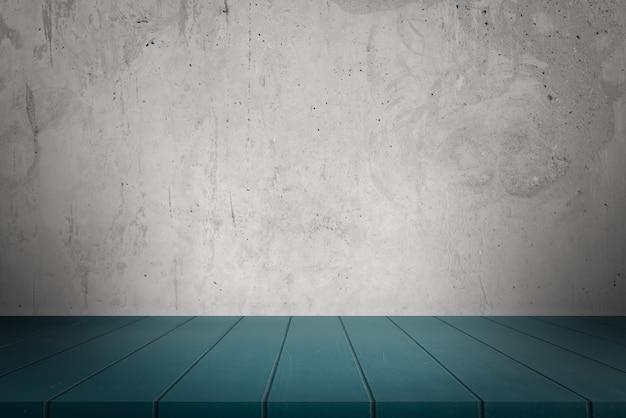 Vecchio muro di cemento grigio e pavimento per i prodotti di visualizzazione.