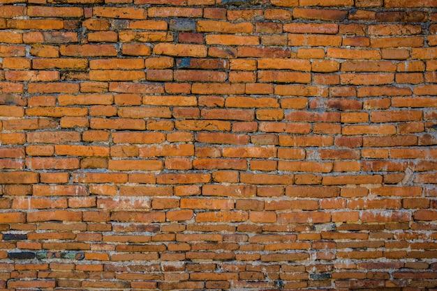 Vecchio muro di mattoni in uno sfondo