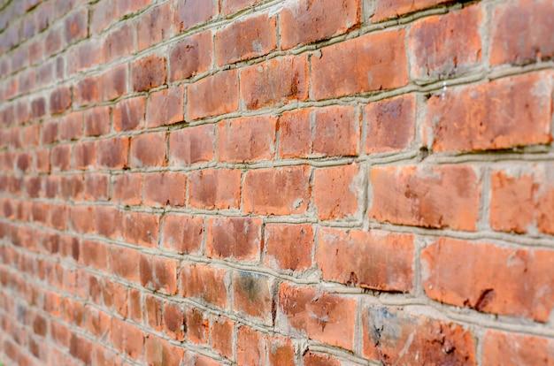 Vecchio muro di mattoni marrone