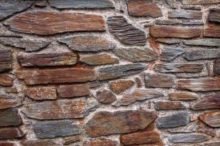 Vecchio muro di pietra trama foto hdr
