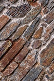 Vecchio muro di pietra trama hdr muro